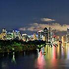 Blue Hour Brisbane River by Peter Doré