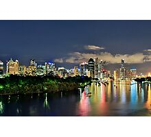 Blue Hour Brisbane River Photographic Print