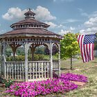 Gazebo And Flag by James Brotherton