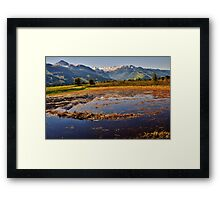 AUSTRIAN LAKES AND MOUNTAINS Framed Print