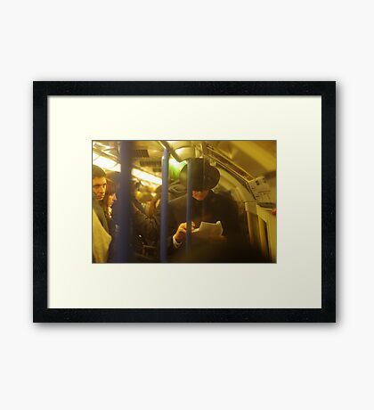 When you're playing Angry Birds on your iPod, you do not look this cool Framed Print