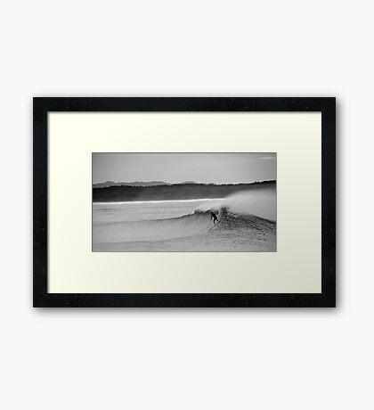 Falling Down Mountains Framed Print