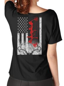 Bow Hunting USA Flag Women's Relaxed Fit T-Shirt