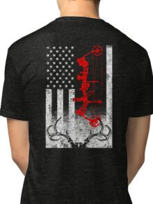 Bow Hunting USA Flag Tri-blend T-Shirt