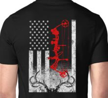 Bow Hunting USA Flag Unisex T-Shirt
