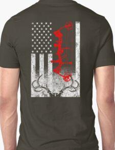 Bow Hunting USA Flag Unisex T-Shirt