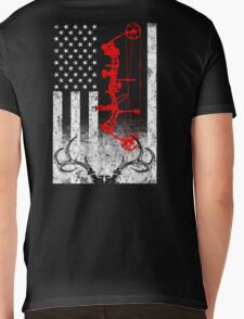 Bow Hunting USA Flag Mens V-Neck T-Shirt