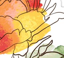 peony flowers Sticker