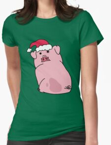 Christmas Waddles the Pig! Womens Fitted T-Shirt