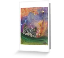 Space Wolf Greeting Card