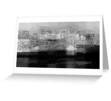 Monochrome city Greeting Card
