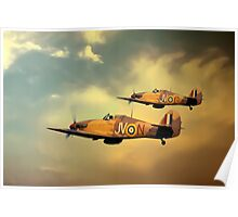 6 Squadron Hurricanes Poster