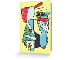 colorful foot and hand Greeting Card