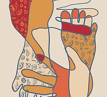 colorful foot and hand by OlgaBerlet