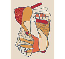 colorful foot and hand Photographic Print