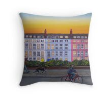 Of Pushbikes And Pointy Dogs Throw Pillow
