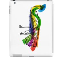 decorative peacock like a child's drawing iPad Case/Skin