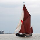 Sailing Barge 'Adieu'. by Paul Woloschuk