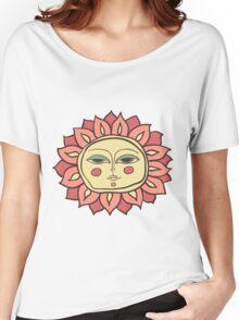 Sun face Women's Relaxed Fit T-Shirt