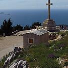 Memorial at Mount Srd, Dubrovnik by wiggyofipswich