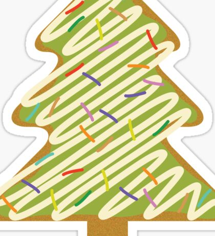 Christmas Tree Gingerbread  Sticker