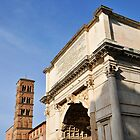 Arch of Titus & bell tower of Santa Francesca Romana, Rome, Italy by buttonpresser