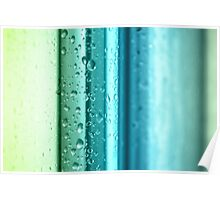 Bathroom Stripes Abstract Poster