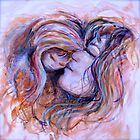 Mother and Child in Jewel Tones by Nadine Rippelmeyer