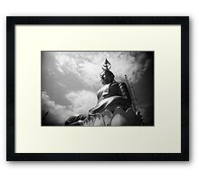 Buddha Up In The Clouds - Lomo Framed Print