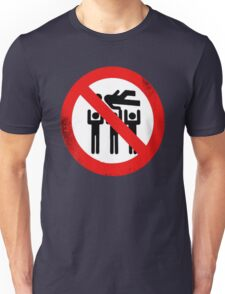 No Crowdsurfing! Unisex T-Shirt