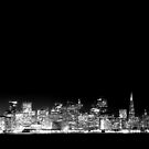SF Skyline Black & White by Jenn Ramirez