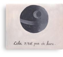 Cela n'est pas de lune (The Treachery of Sith) Canvas Print