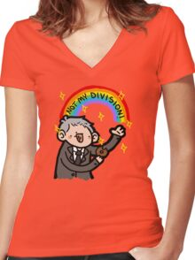 ~NOT MY DIVISION~ Women's Fitted V-Neck T-Shirt