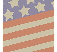 Patriotic Stars and Stripes in faded colors Photographic Print