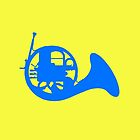 Blue French Horn by Nicholas Fontaine
