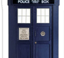 The TARDIS chooses the TIme Lord Sticker