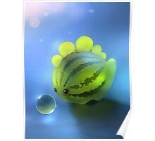 Watermelon Dino Poster