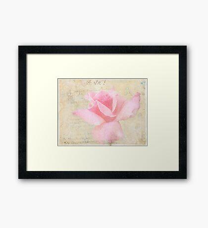 Douce Vie Framed Print