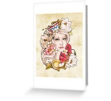 Mom's Cup of Tattoo Color Greeting Card