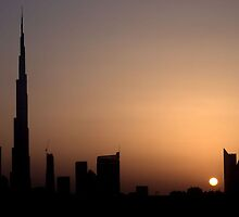 Dubai Sunset over SZR by Ian Mitchell
