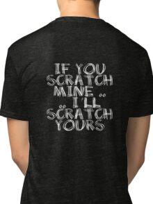 FATHERS DAY GIFT - THE BACKSCRATCHER KIT Tri-blend T-Shirt