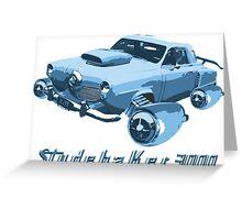 Studebaker 3000 (Blue) Greeting Card