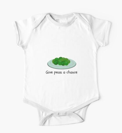 Give Peas A Chance One Piece - Short Sleeve