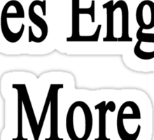 This Man Loves English More Than Anything  Sticker
