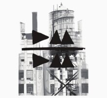 Depeche Mode : Delta Machine Paint cover - B&W DM/DM - water tower 2 by Luc Lambert