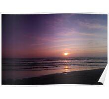 Vivid Ocean Sunset Poster