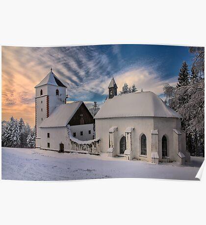 Snowed in church Poster