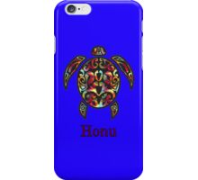 Rainbow Hawaiian Seaturtle on Ocean Blue iPhone Case/Skin