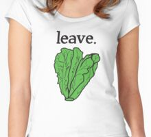 leave. 2 (romaine lettuce)  Women's Fitted Scoop T-Shirt