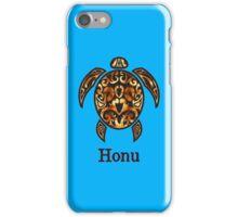 Gold Hawaiian Sea Turtle on Ocean Blue iPhone Case/Skin